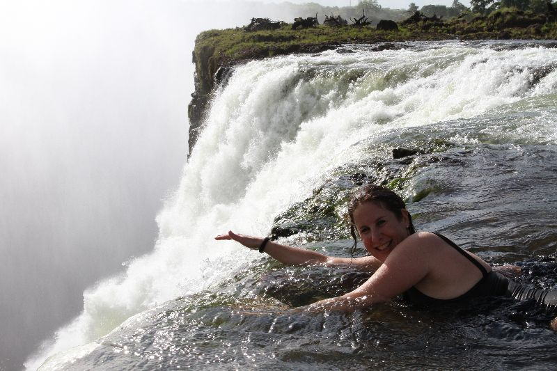 The Devils Pool, edge of Victoria Falls-Zambia