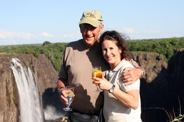 Sundowner on the Victoria Falls, Zambia
