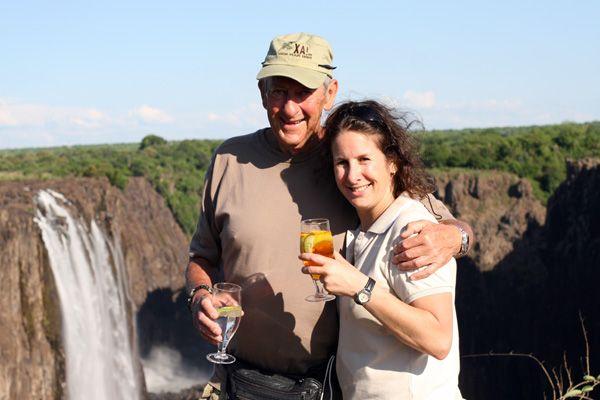 Sundowner on the Victoria Falls, Zambia