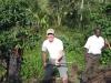 Sean planting in Bwindi