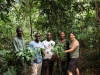 Lisa and friends in Bwindi